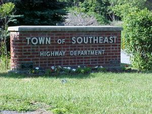 Town of Southeast Highway Department Sign