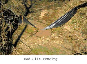 Bad Silt Fencing