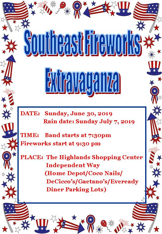 Southeast Fireworks Information 2019